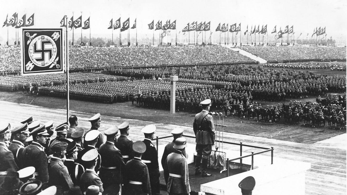 Image result for adolf hitler public army stadium