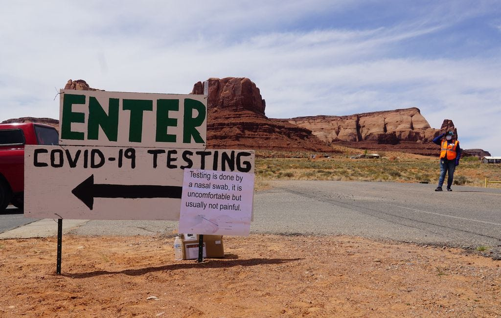 (Zak Podmore   The Salt Lake Tribune) The Utah Navajo Health System and the Utah Department of Health's Utah Public Health Laboratory conducted over 1,300 drive-thru tests in southern San Juan County in mid-April. The initiative wrapped up in Monument Valley on Friday, April 17, 2020.