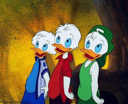 """Qui, Quo e Qua in """"Quack Pack"""""""