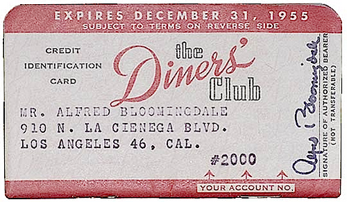 Image result for diners club card 1950s