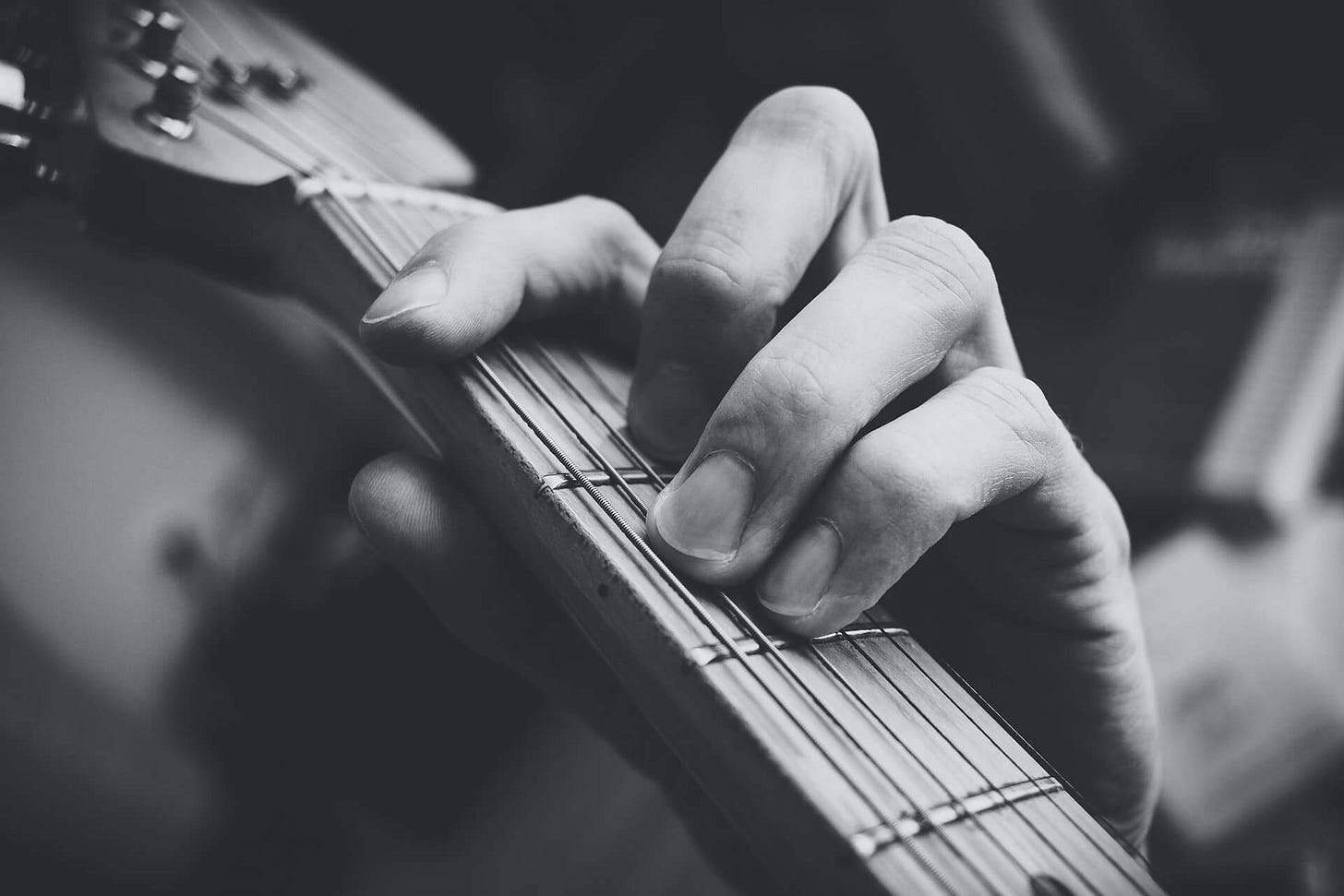 Practicing a barre chord