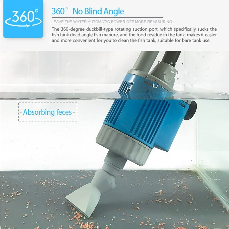 963766656 20 28w Electric Fish Tank Water Change Pump Aquarium Cleaning Tools Water Cleaner Siphon Water Filter Pump Aquarium Accessories Home Garden Pet Products