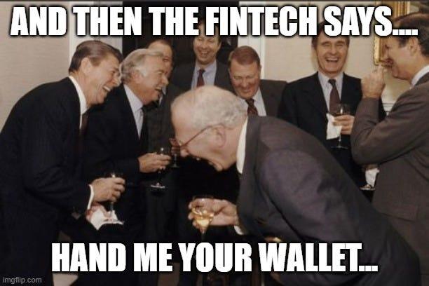 When bankers speak fintech... - Imgflip