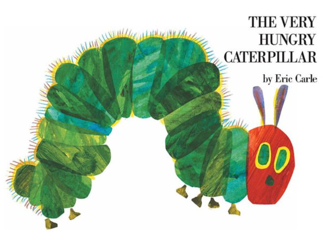 The cover of the book, The Very Hungry Catepillar by Eric Carle