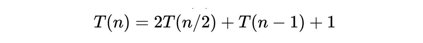 slowsort recurrence relation