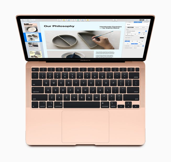 The new Magic Keyboard, featured on MacBook Air.
