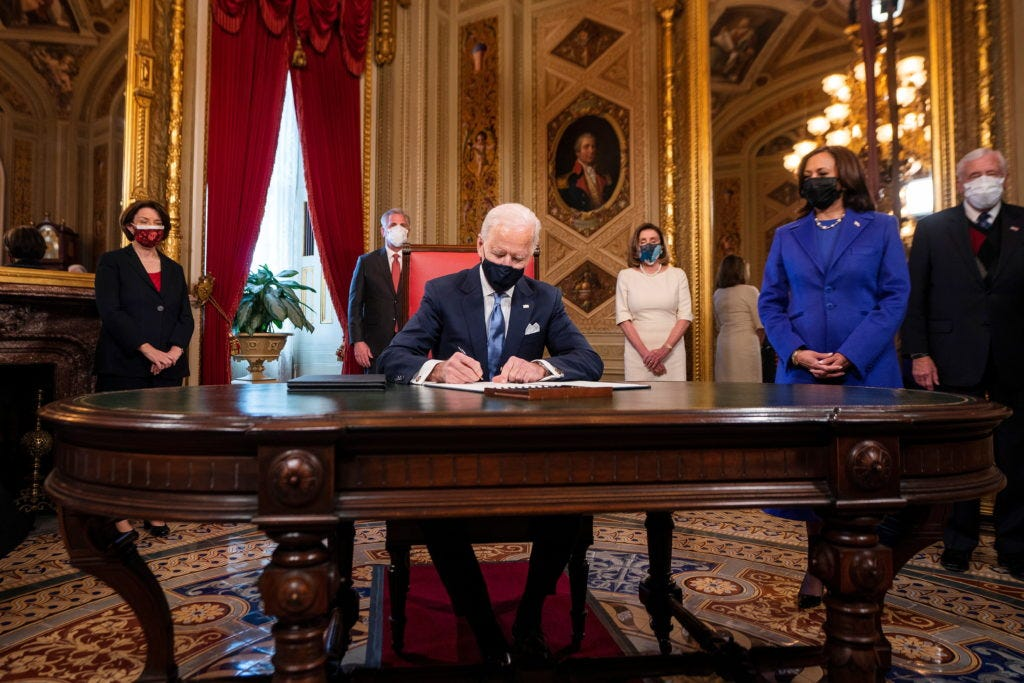 A look at Biden's first executive orders in office | PBS NewsHour