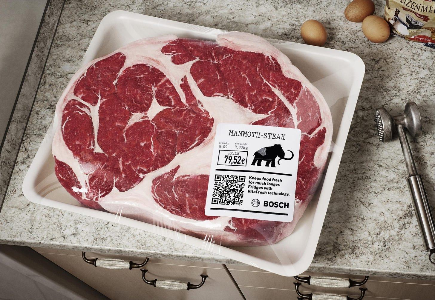Adeevee | Only selected creativity - Bosch International Refrigerators:  Dinosaur Leg, Mammoth Steak, Sabertooth File