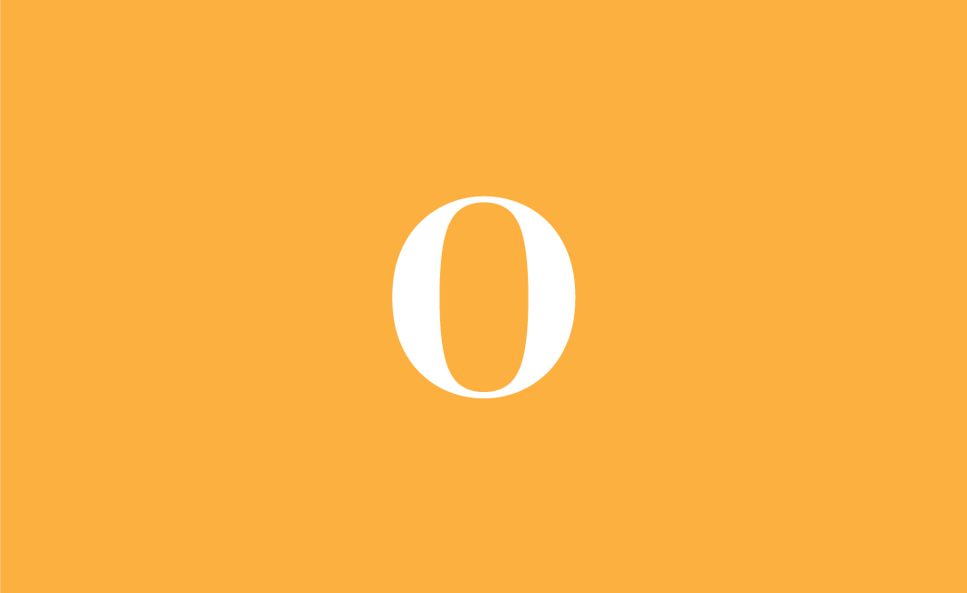 The Objective's logo placed on an orange background.
