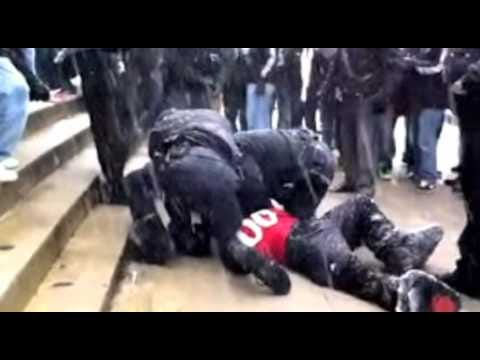 UC Bearcat Mascot Detained - YouTube
