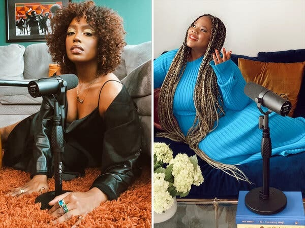 """Deanii Scott, left, and Sylvia Obell are the hosts of the Netflix podcast """"Okay, Now Listen."""""""