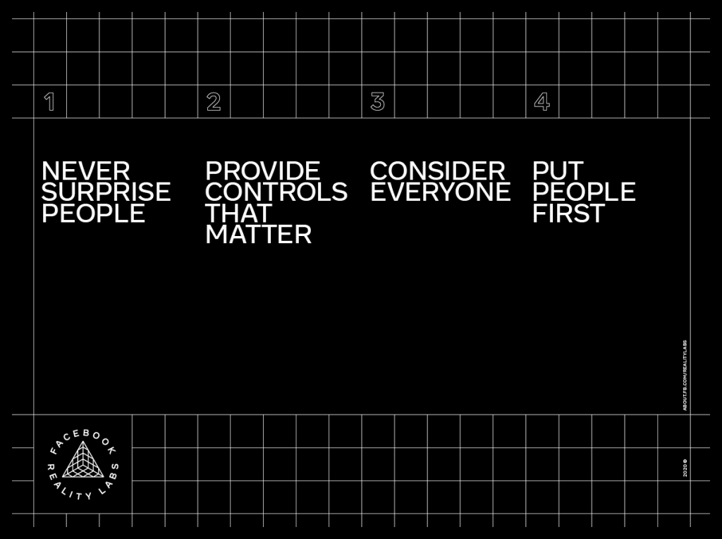 Facebook Reality Labs' principles for building the future