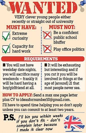 Wanted—Very clever young people—Image from Daily Mail