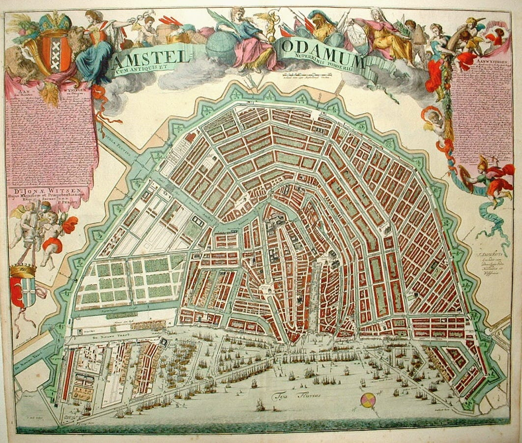 antique plan of the town of Amsterdam / Virtual Map Fair