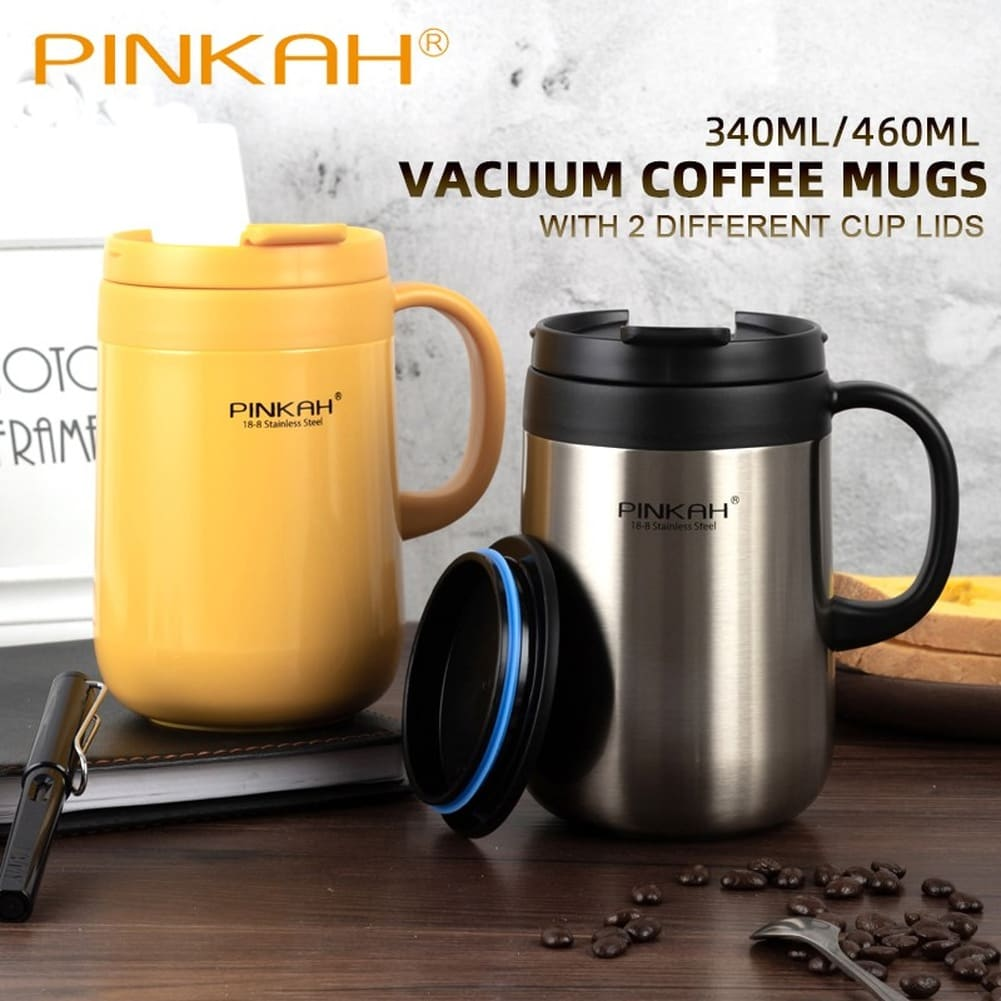 340&460ML 304 Stainless Steel Thermos Mugs Office Cup With Handle With Lid Insulated Tea mug Thermos Cup Office Thermoses