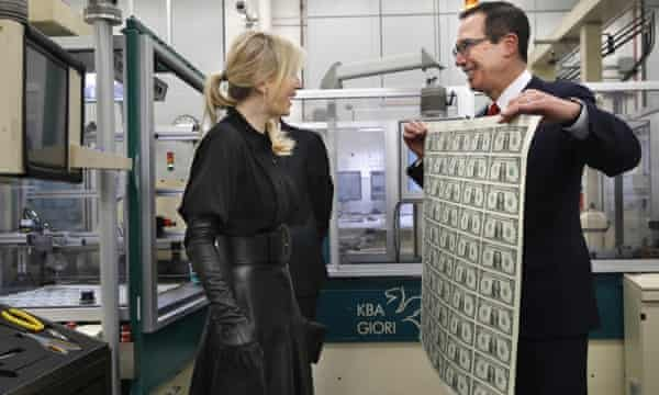 Steve Mnuchin and Louise Linton mocked for posing with dollars   US  politics   The Guardian