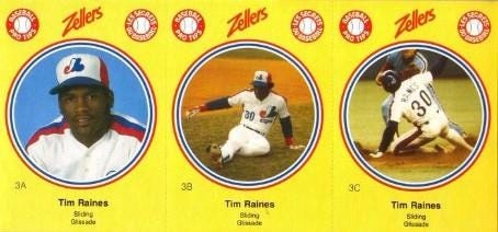1982 Zellers Tim Raines - Wax Pack Gods
