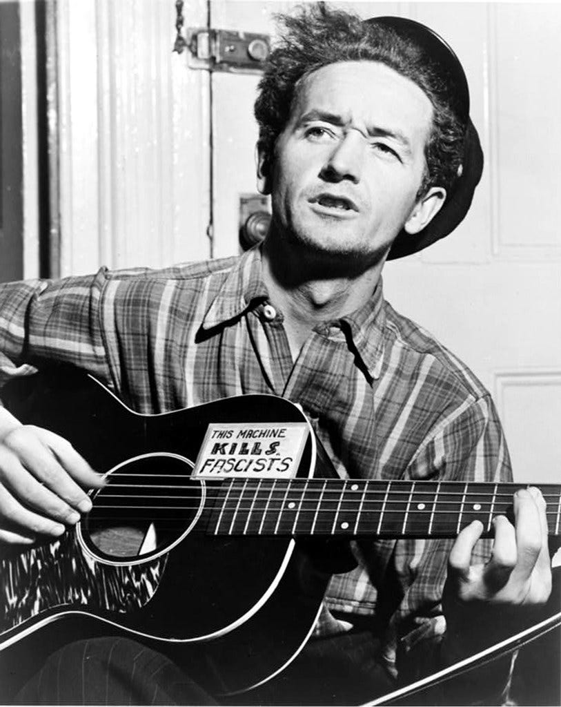 """""""woody kills fascists - WOODY GUTHRiE"""" by s76fitz is licensed under CC BY-NC-SA 2.0"""