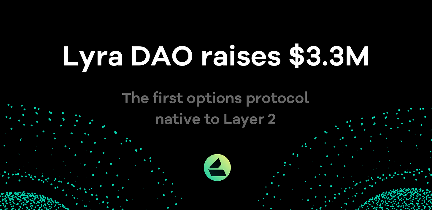 Lyra DAO raises $3.3m