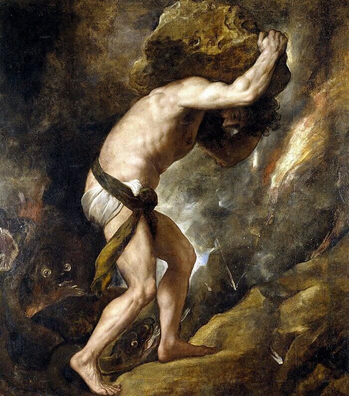 Sisyphus, 1548 by Titian