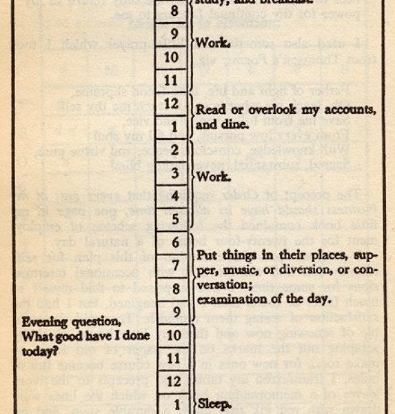 Benjamin Franklin Virtues Journal