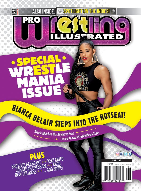 Cover of the June 2021 issue of Pro Wrestling Illustrated