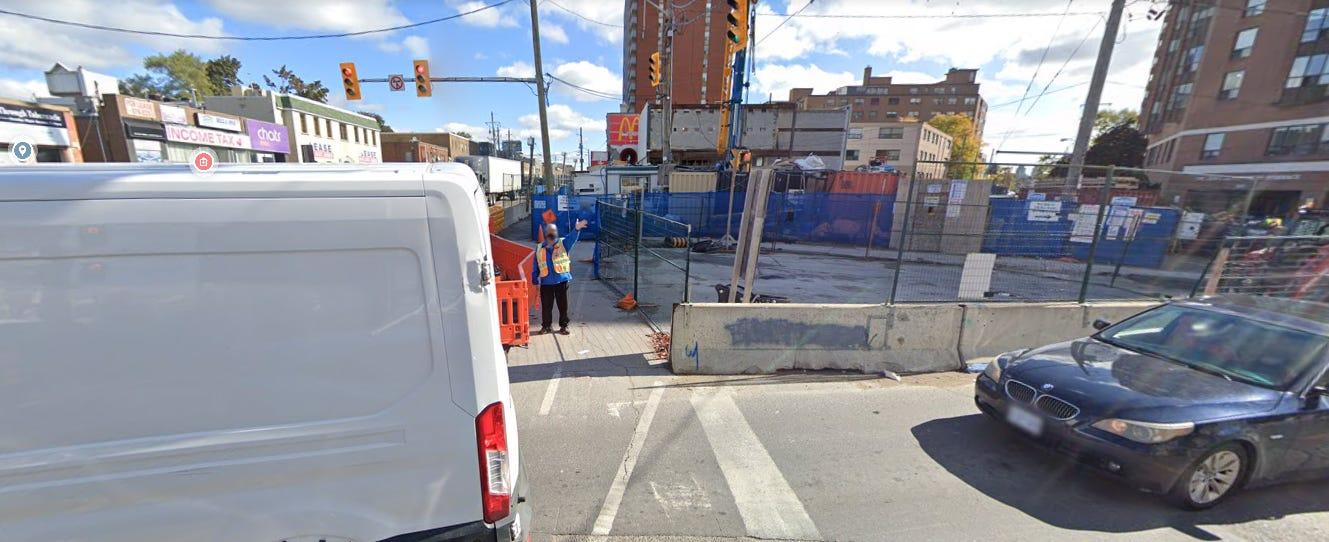 Google Streetview of Eglinton & Dufferin in 2020
