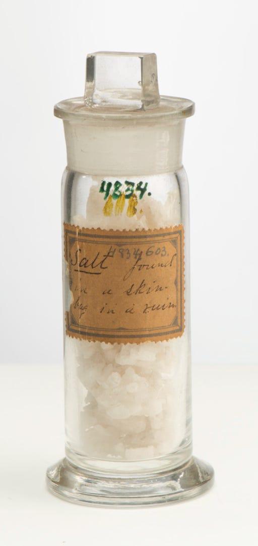 Old fashioned image of a salt shaker