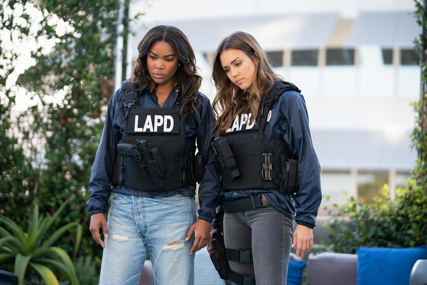 Gabrielle Union and Jessica Alba, <em>L.A.'s Finest</em>