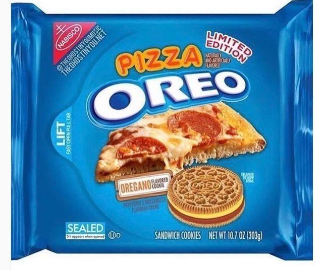 Pizza Oreo in 2020   Oreo flavors, Weird oreo flavors, Pop tart flavors