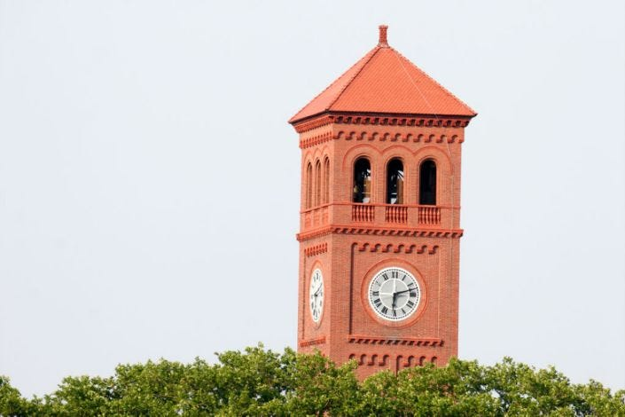 Virginia, Hampton, Hampton University, clock tower,