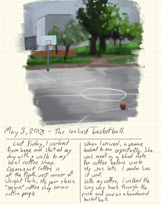 Lonely basketball