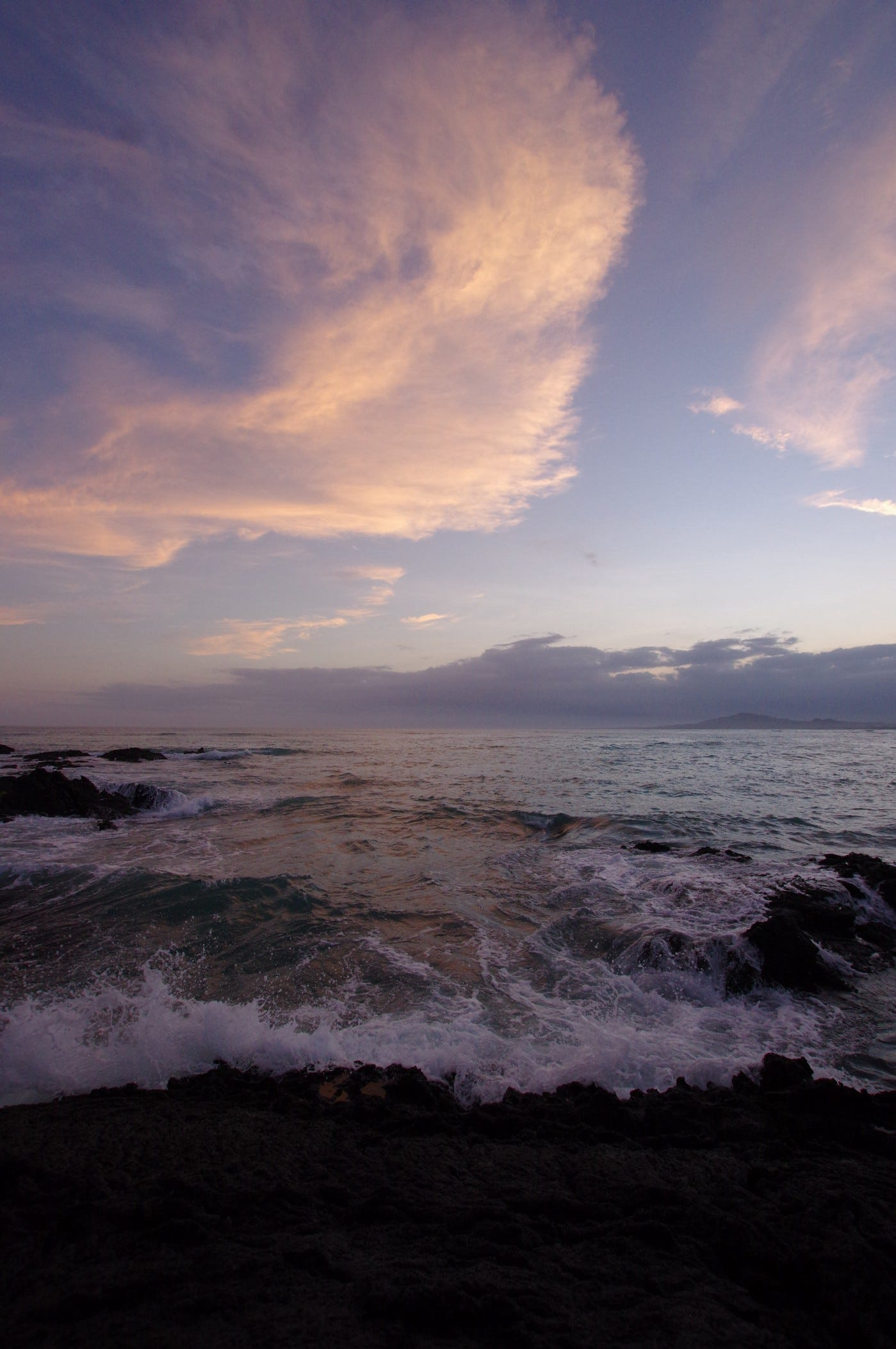 Sky over the Pacific on the Galápagos. Photo by Heather, 4/1/16