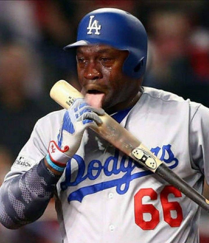 Yasiel is getting ready for Game 3 #cryingjordan #cryingjordanface  #yasielpuig #worldseries #fallclassic #hr4hr | Baseball humor, Jordan meme,  Yasiel puig