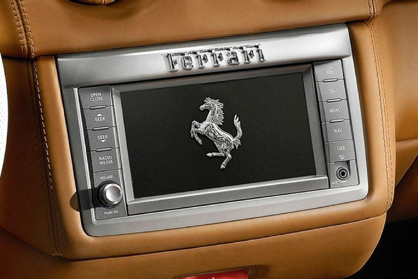 Audio/Video Interface for Ferrari with Uconnect navigation ...