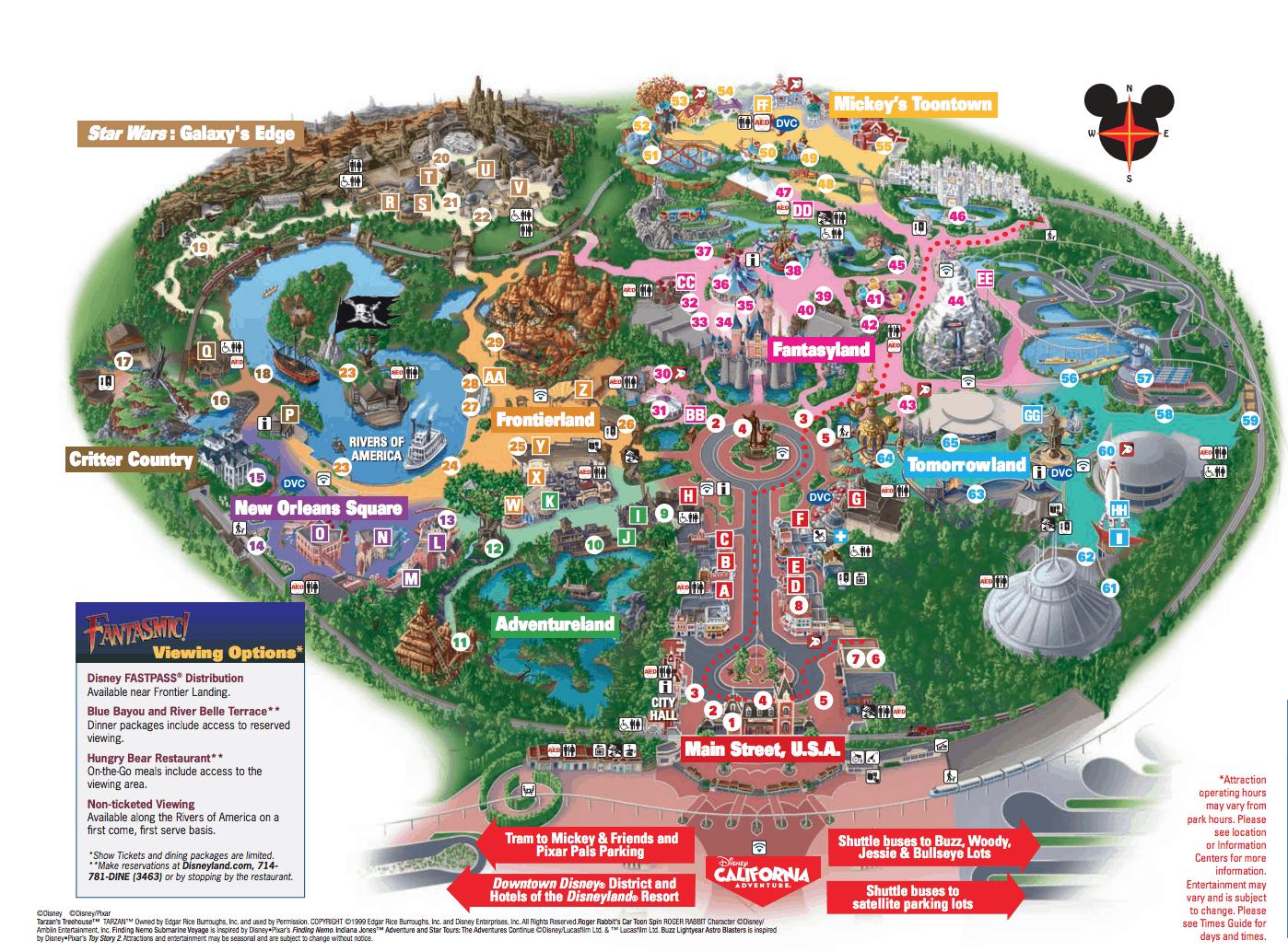 Disneyland Map 2019 Pdf | Living Room Design 2020