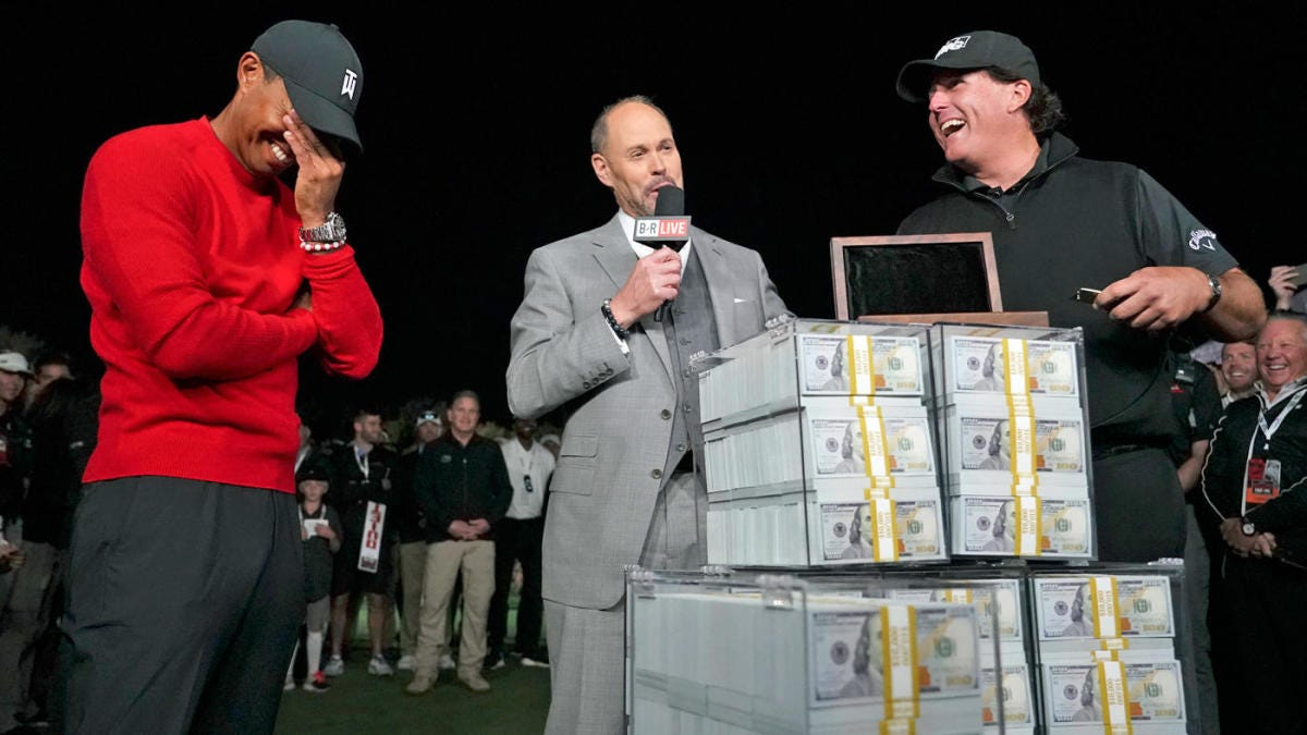 Tiger Woods vs. Phil Mickelson match: Purse, bets, a belt and everything  Lefty won off Tiger - CBSSports.com