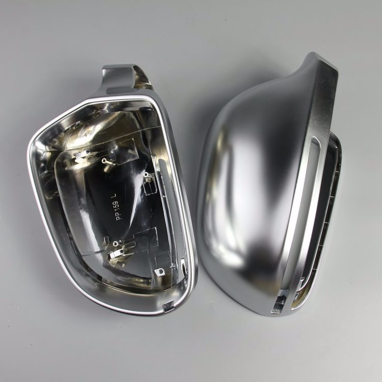 1 Pair of Matte Chrome Rearview Mirror Cover Protection Cap Car Styling Car Mirror Cover For Audi B8 A3 A4 A5 A6 S4 RS4 S6 RS6