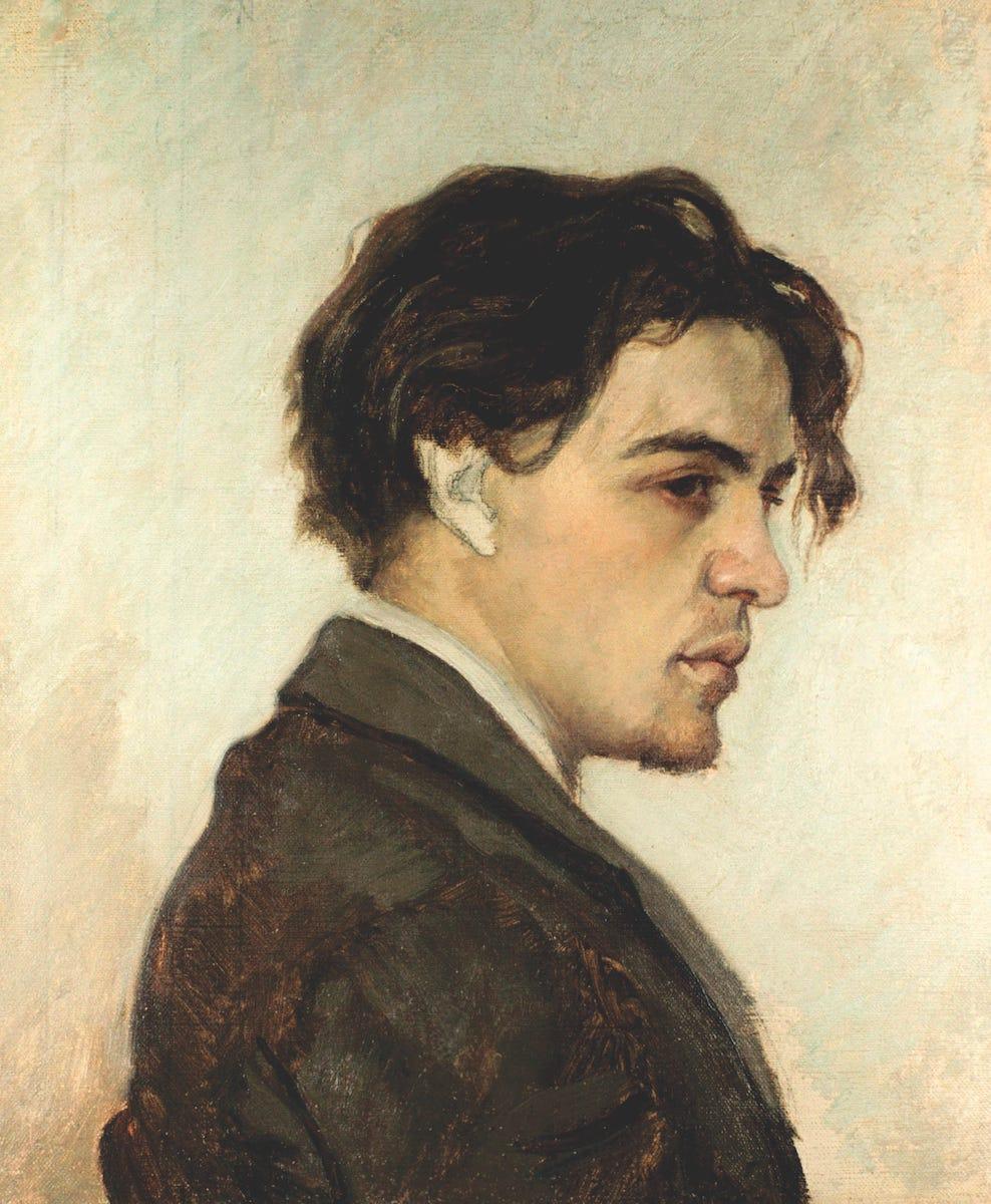 Portrait of Anton Chekhov looking hot