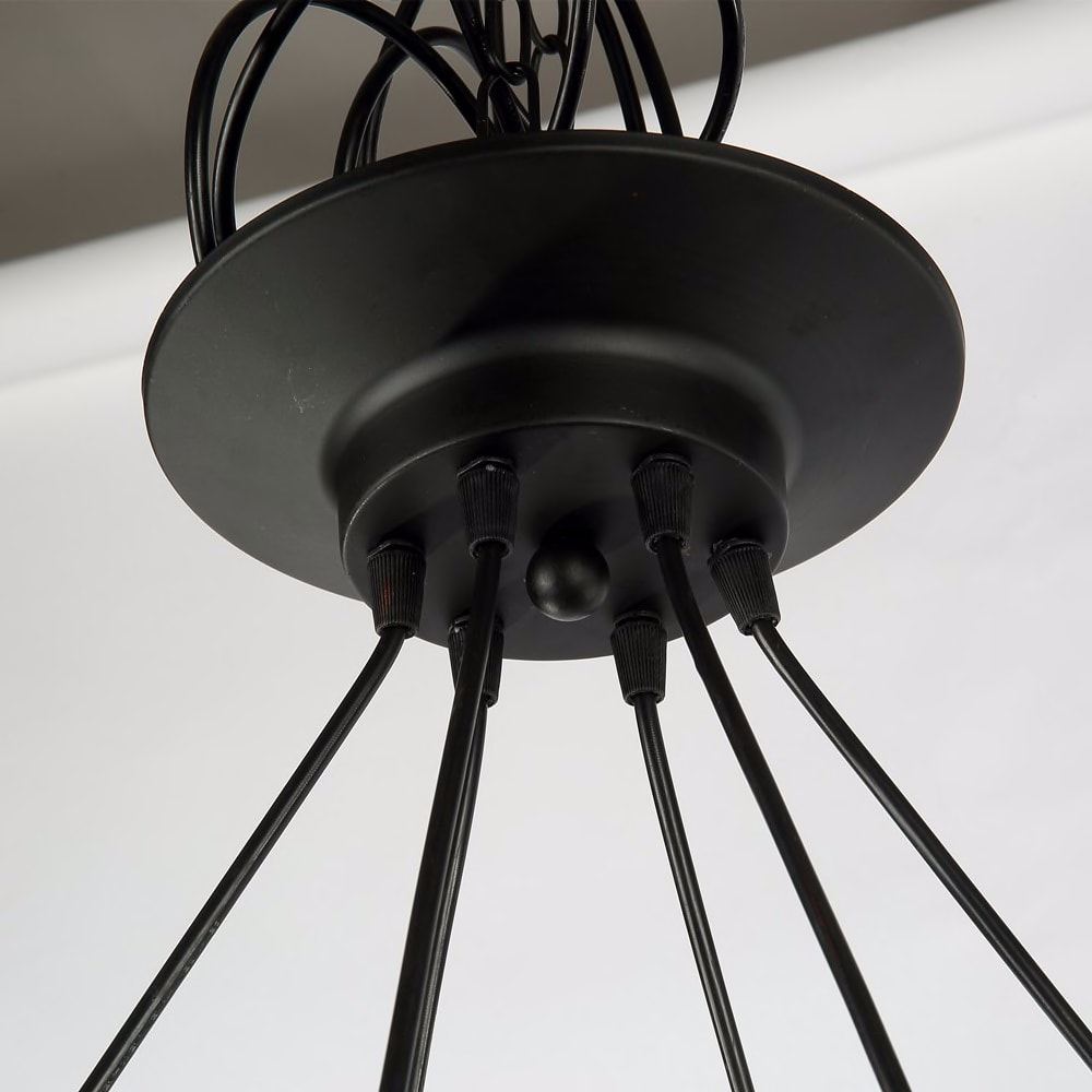 Industrial Large Pendant Lights Wrought Iron Lighting Office Bar Hotel Kitchen Island Brown Light Antique Pendant Ceiling Lamp