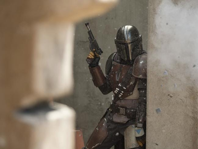 Ambitious eight-episode show The Mandalorian will launch with Disney+ tomorrow. Picture: Francois Duhamel/Disney Plus via AP