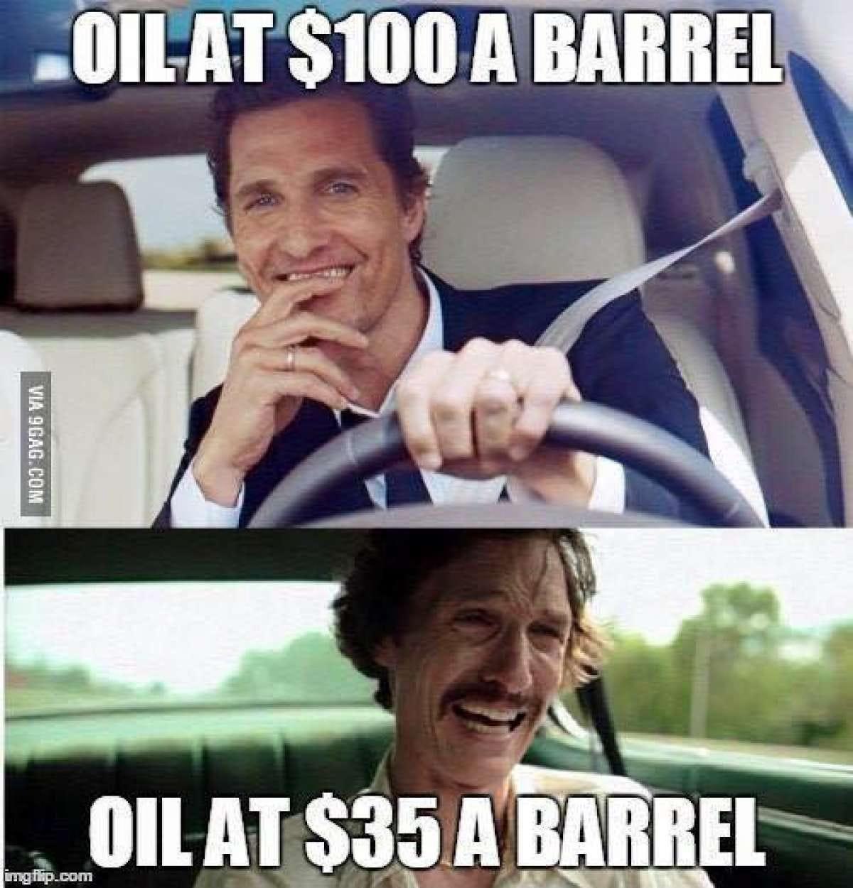 Oil crash memes bring humor to petroleum's plunge