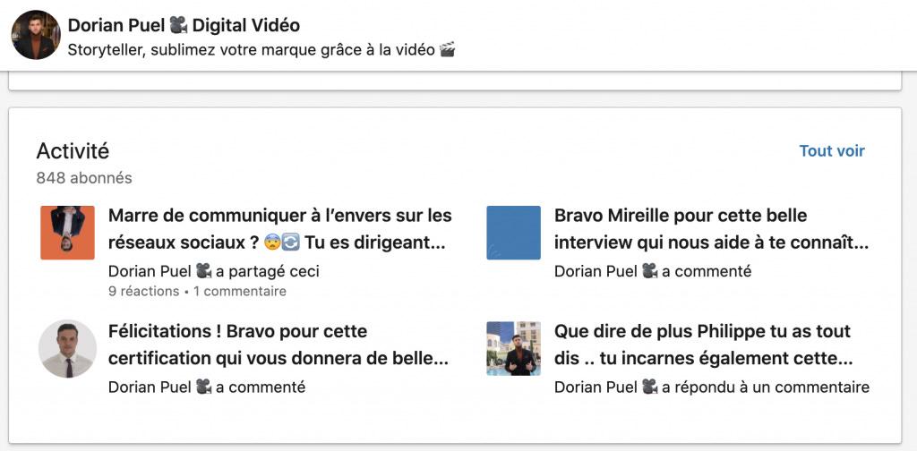 LinkedIn Dorian Puel