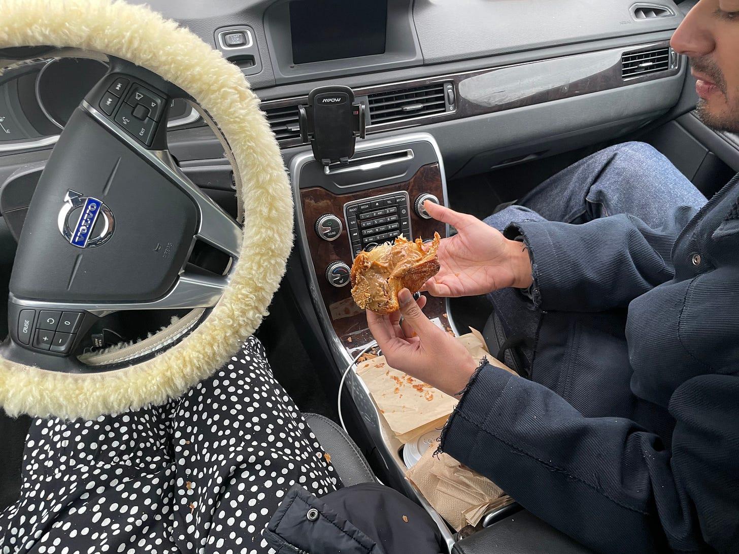 Breadfolks' hazelnut praline cruffin