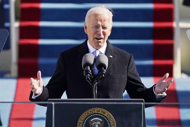 Biden makes clear rebuke of white supremacy in inaugural address