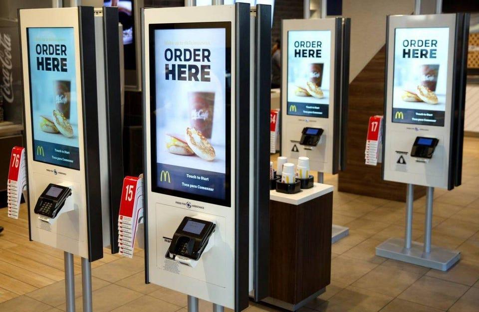 McDonald's Says Goodbye Cashiers, Hello Kiosks