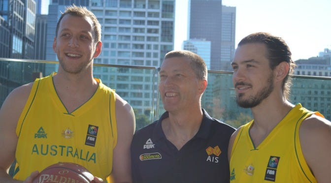 Joe Ingles, Andrej Lemanis and Chris Goulding | Credit: Damian Arsenis