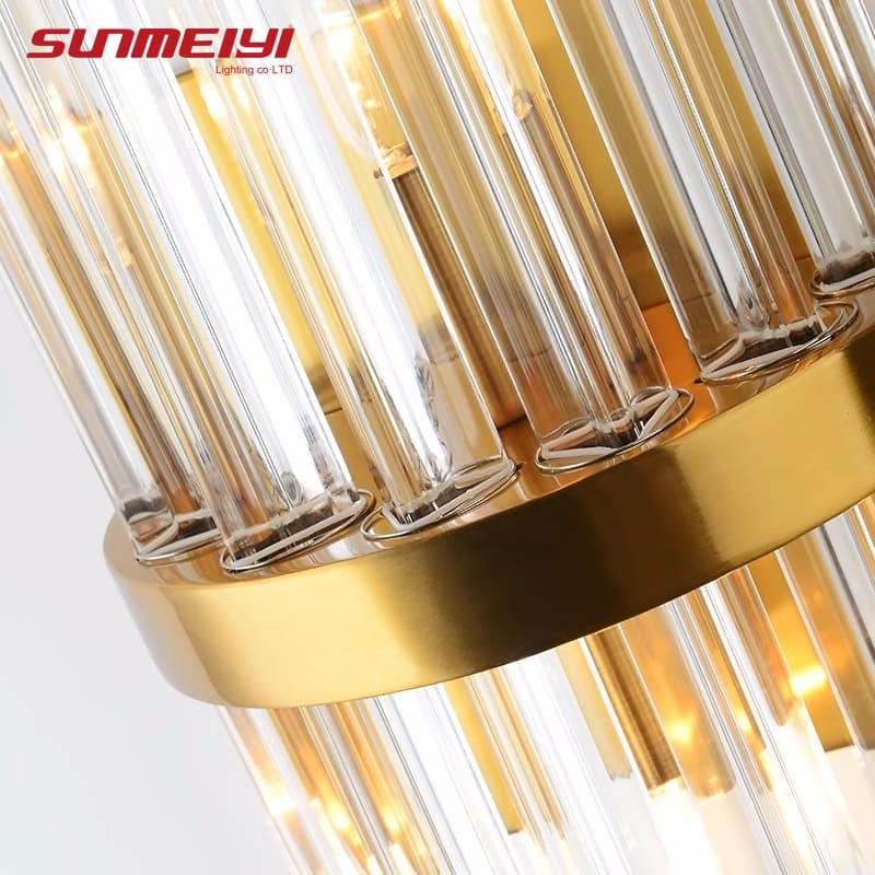 Nordic Wall Lamps Modern Sconce Wall Indoor Fixture Stairway LED Crystal Living room Lamp Bedroom Industrial Retro Gold lampara