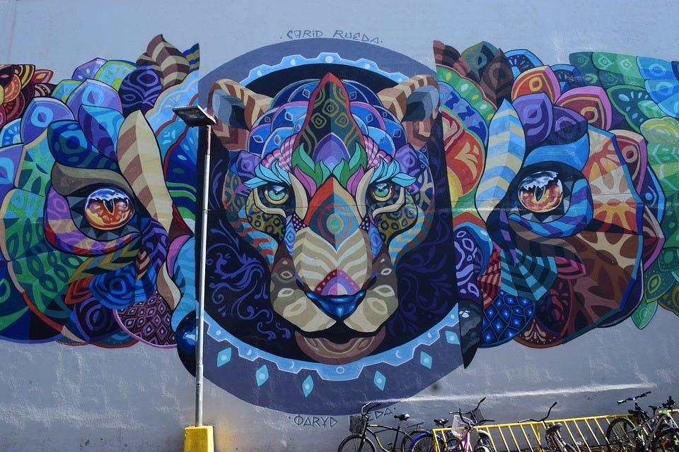 Art, Street Art, Graffiti, Painting, Jaguar, Artistic