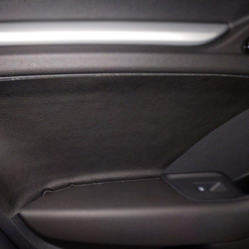 For Audi A3 2014 2015 2016 2017 2018 4pcs Microfiber Leather Interior Door Handle Panel Cover Sticker Trim